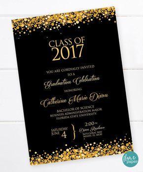 graduation invitation graduation celebration college graduation