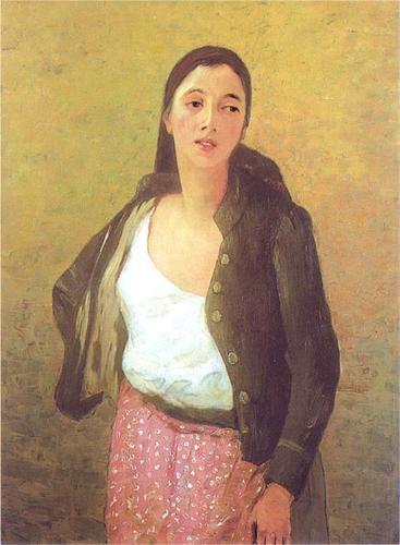 Safta the Flower Girl - Stefan Luchian 1901, Romanian painter