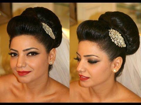 4a0efc680e2ccc9de4da9b1427127677  asian bridal hair bridal bun - Asian Wedding Bridal Lenghas