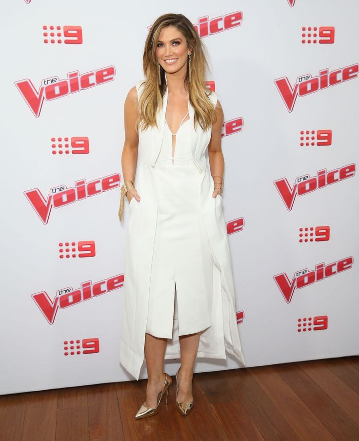 Delta Goodrem at the Voice Australia 2016 Live Show Launch, Sydney (9 June, 2016)