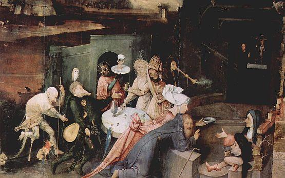Иероним Босх. «Искушение святого Антония». 1505–1506