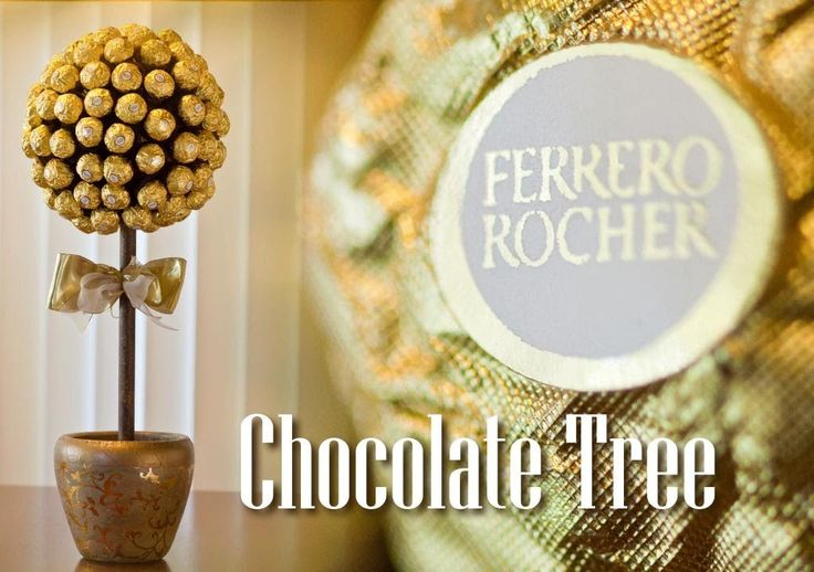 Ferrero Rocher Chocolate Tree. I think the fact that I have a large box of Ferrero Rochers sitting on my kitchen counter right now must be a sign that I should make this!