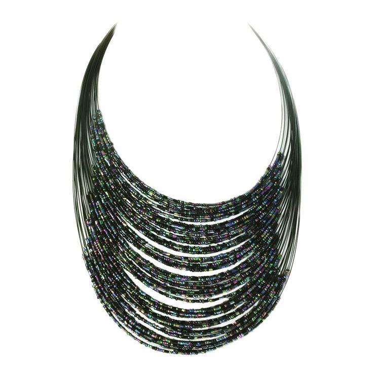 Sophia Black Bead Necklace