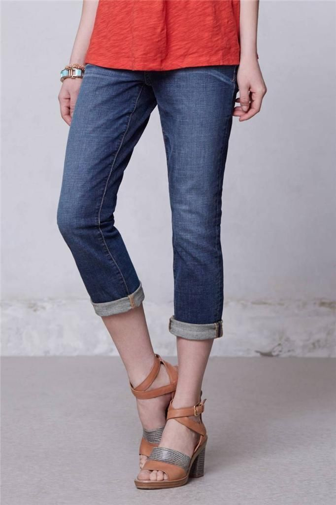 New Anthropologie Pilcro Stet Slim Crops Jeans Sz 24P ...