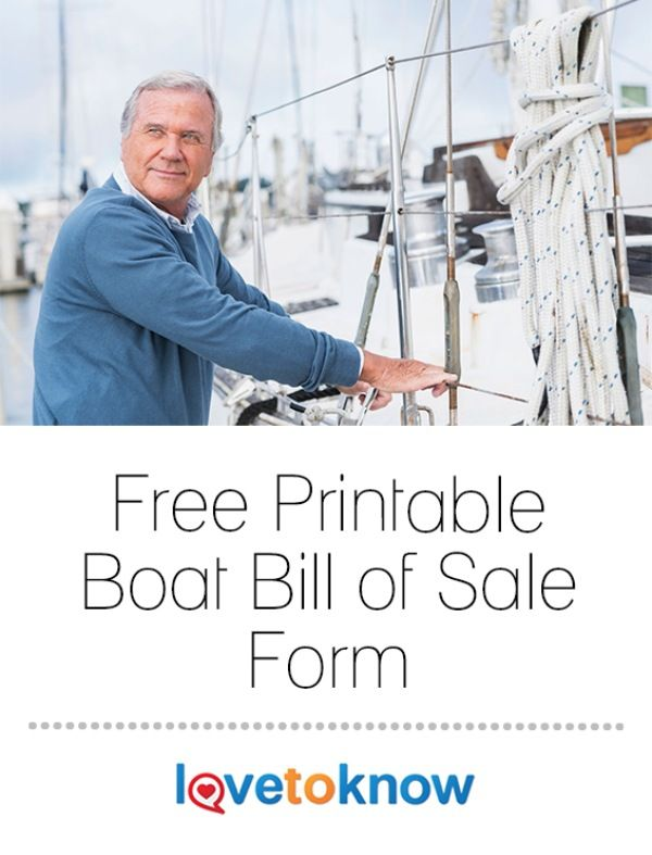 A legal document, a bill of sale serves as proof the boat (and the money paid for it) exchanged hands and outlines the rights and responsibilities of each party following the sale. The seller usually provides the bill of sale, but the buyer can (and should) prepare one if the seller does not. | Free Printable Boat Bill of Sale Form from #LoveToKnow