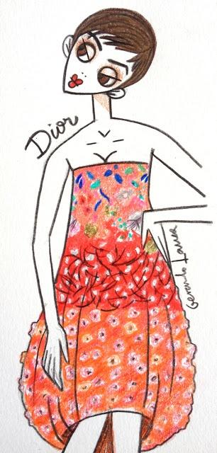 dior spring 13 couture    illustration copyright © gerardo larrea