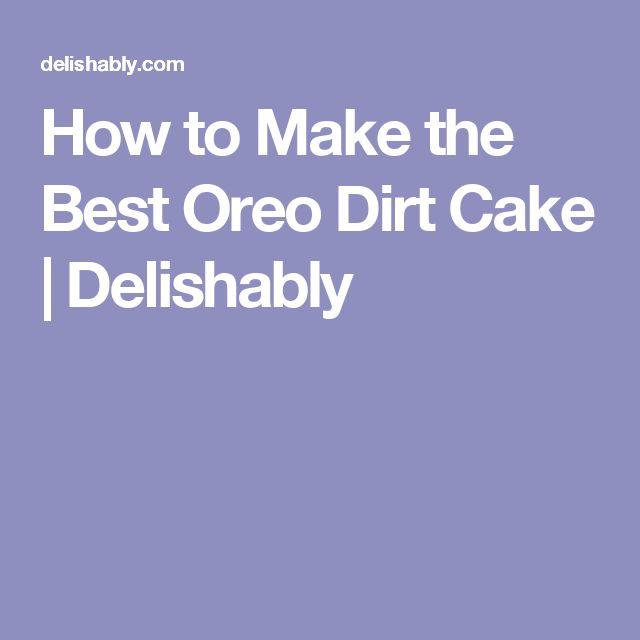 Low fat dirt cake recipe