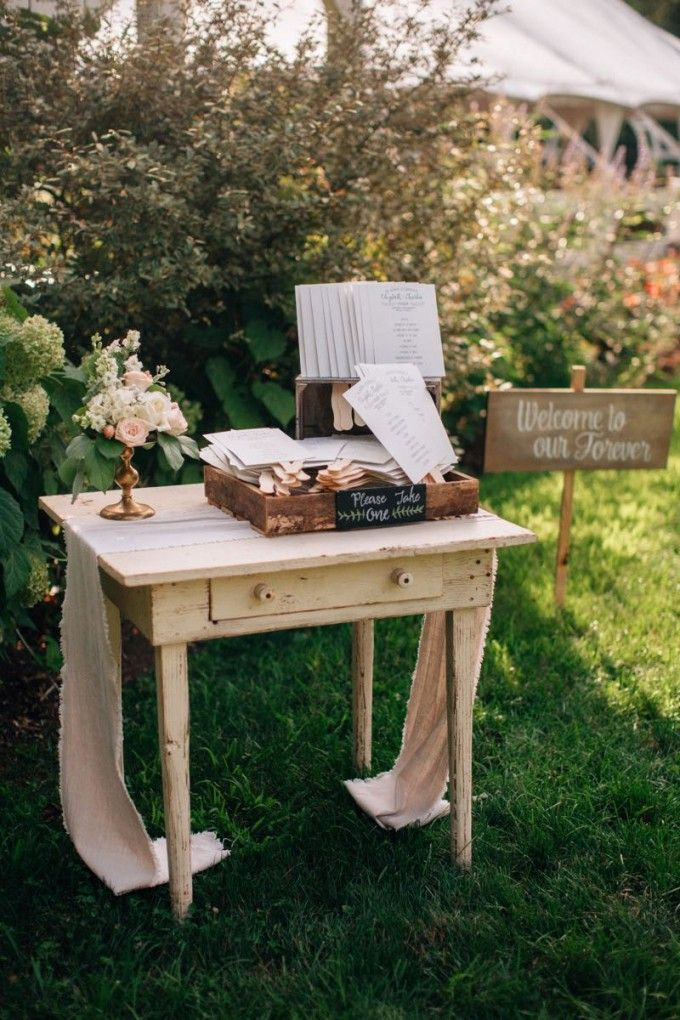 Al fresco farm program station #cedarwoodweddings Softly Lit Outdoor Wedding :: Elizabeth+Charlie | Cedarwood Weddings