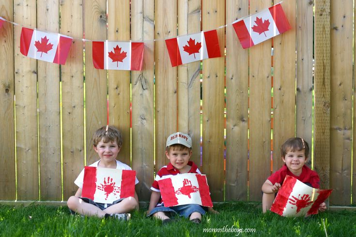 Canada Day Flag craft