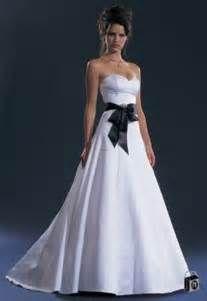 Black and White Wedding Gowns WedWebTalks