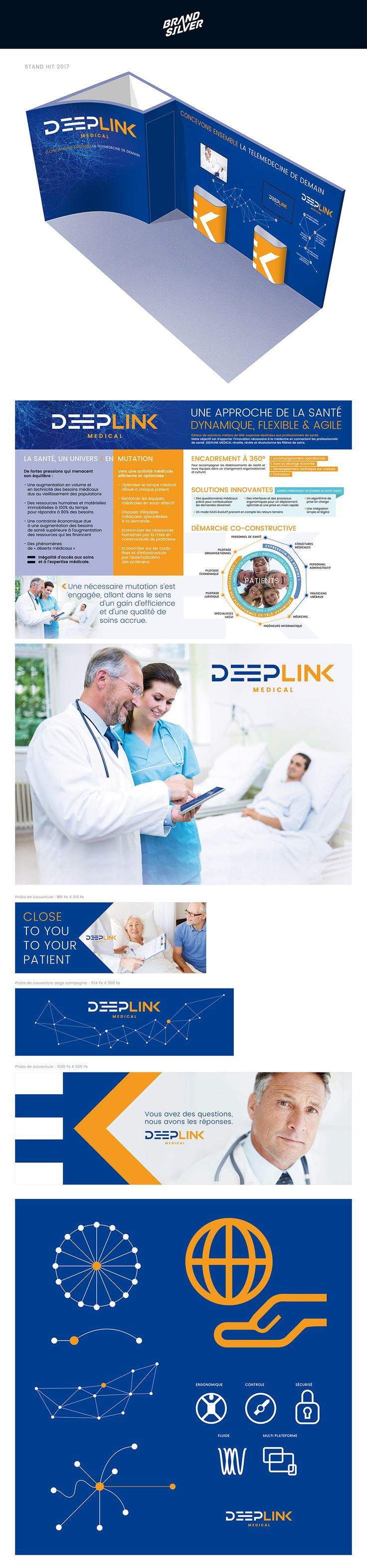 Naming and new branding for #Deeplink medical. Télé-expertise médicale. Lyon