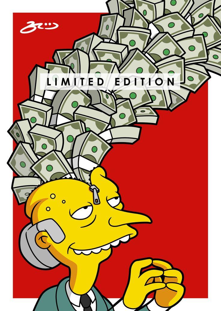 'Mr Burns UNZIPPED'  BroosArt
