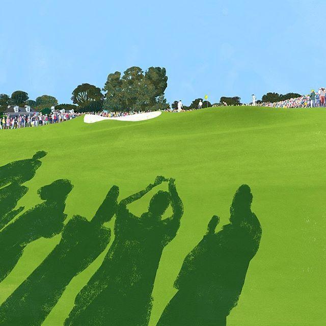 #illustration #painting #tatsurokiuchi #art #drawing #life #lifestyle #happy #people #木内達朗 #イラスト #イラストレーション #masters #augustanational #augusta #golfcourse #golf