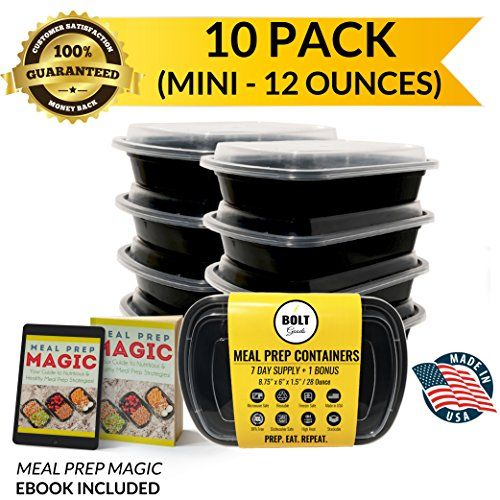 If you are in the market for a meal prep container this one is perfect as they are only 12 ounces and perfect if your are on a portioned diet. #gotitforfree #elite1sreviews  Bolt Goods MINI SMALL Plastic Meal Prep Containers (10 Pa... https://www.amazon.com/dp/B01L5P17RS/ref=cm_sw_r_pi_dp_x_JBe9xb51QFT8J