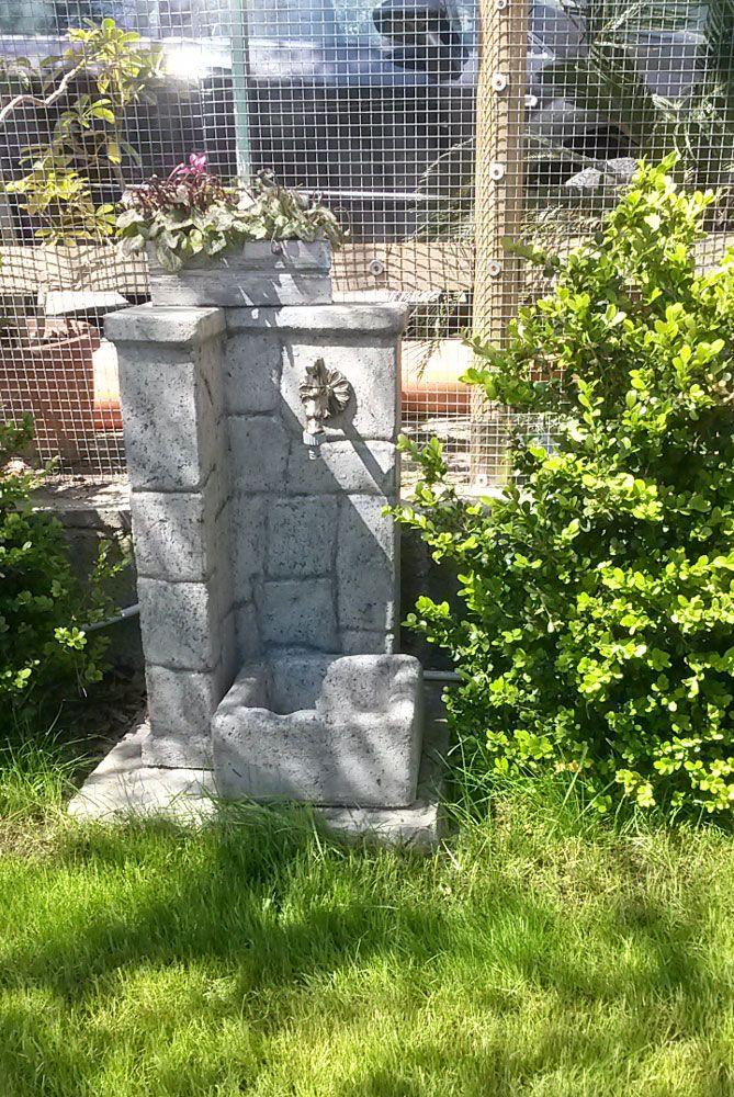 Fontana da giardino mod. Fonte antica easy, finitura: antichizzata.