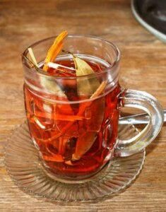Wedang Uwuh. Wedang Uwuh is a traditional drink from the village of Imogiri, Yogyakarta, which are mixed and selected from the best ingredients that are beneficial to health. It tastes good and fragrant. The drink is made by much kind of herbs, as clove, lime leave, secang, nutmeg and cinnamon.