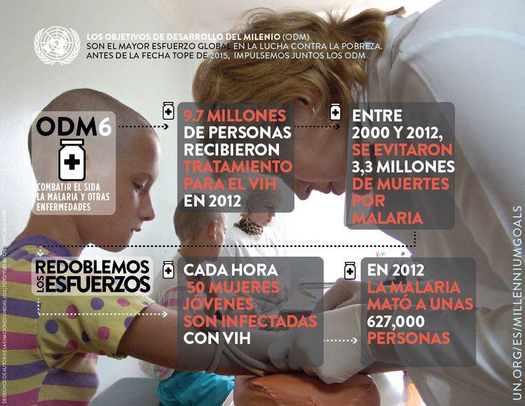 Infografía de los Objetivos de Desarrollo del Milenio (ODM) 6