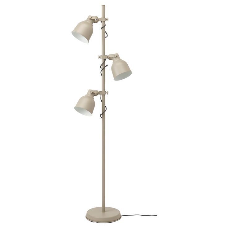 Ikea Hektar Beige Floor Lamp W 3 Spots And Led Bulbs Floor Lamp Lamp Stand Light