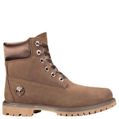 1df7cf97c3cf Timberland Women s 6-Inch Premium Waterproof Boots w Satin Collar Dark  Brown Nubuck