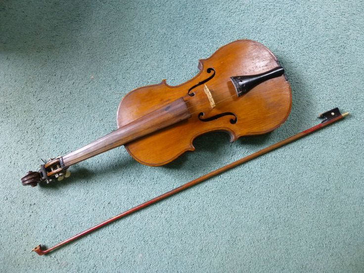 Vintage Antonius Stradivarius German Made 4/4 Violin Copy With Bow #AntoniusStradivarius