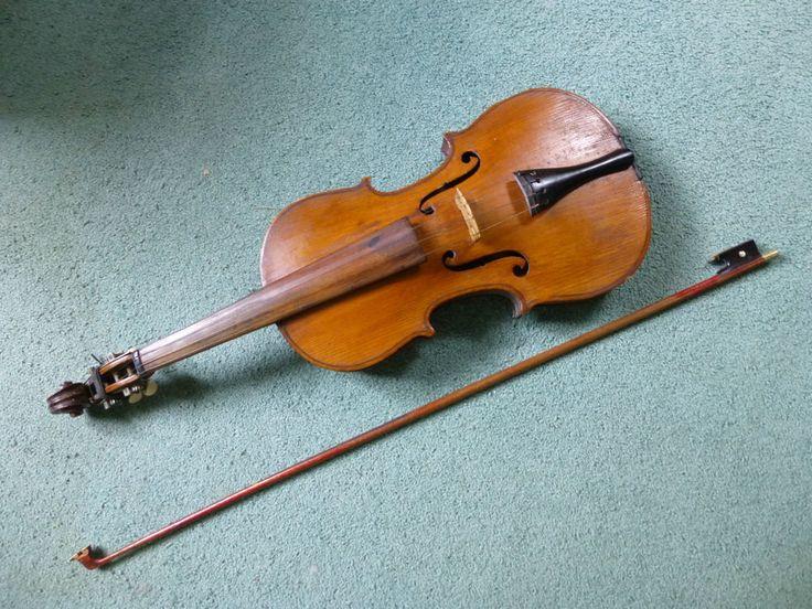 Vintage Antonius Stradivarius German Made 4/4 Violin Copy With Bow #AntoniusStradivarius