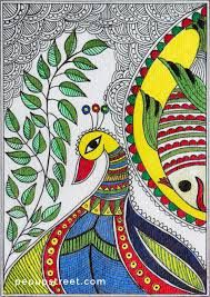 Image result for peacock in madhubani paintings