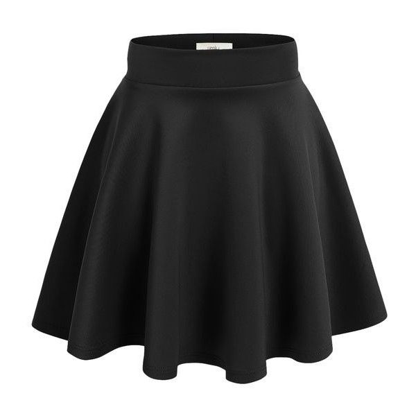 Simlu Womens Skater Skirt, A Line Flared Skirt Reg Plus Size Skater... ❤ liked on Polyvore featuring skirts, skinny belt and thin belt