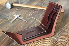 Leather wallet Anniversary gift for Husband gift for boyfriend