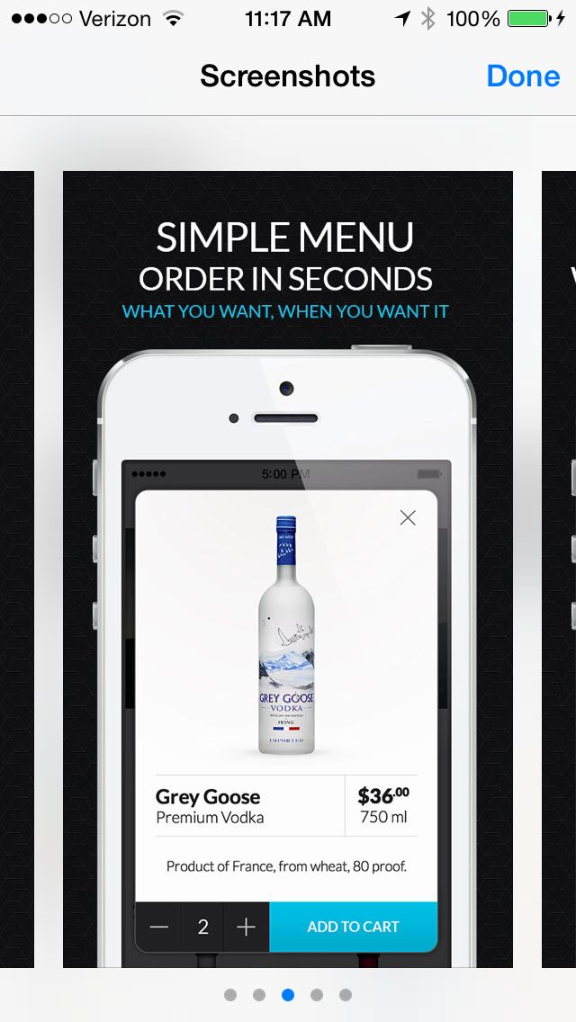 alcohol delivery app design /product
