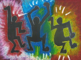 Keith Haring Dancing Figures Art Lesson | Keith Haring Art Projects | Teach your students about positive and negative space as well as form.