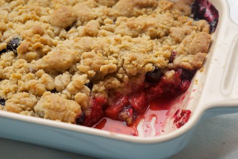 Mixed Berry Cobbler is a delicious celebration of fresh berries with a sweet vanilla cobbler topping. A summertime dessert must!