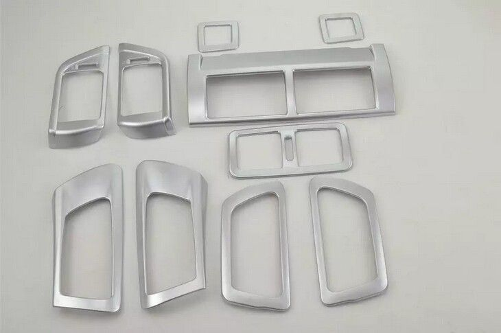 10pcs Matte Air Vent Condition Cover+Inner handle Bowl For Toyota Camry 2015
