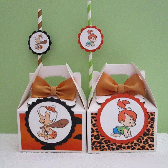 Flintstones Favor Boxes, Bam Bam Favor Boxes, Pebbles