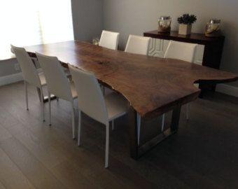 custom order live edge dining table live edge by slab tablewood