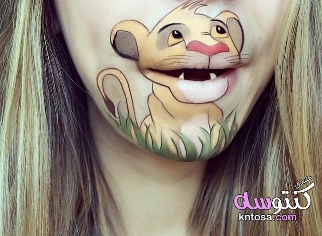 رسم على الفم بطريقه جميله إبداعات فنية لشفاه بشخصيات ديزني فن الرسم على الشفاه Kntosa Com 21 19 154 Lip Art Lips Art