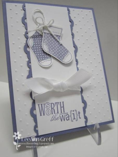 Baby Booties by flowerbugnd1 - Cards and Paper Crafts at Splitcoaststampers