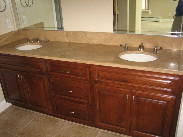 Travertine Countertops : Noce honed travertine vanity countertop Limestone and Travertine ...