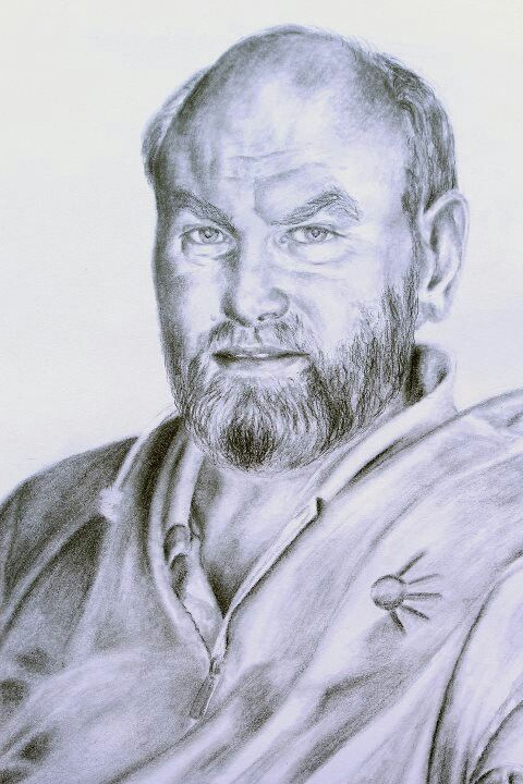 David, charcoal on 300gsm paper,  420x594mm.  Drawn by Susan Brett.