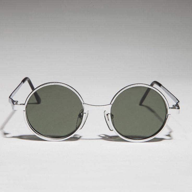 Round Metal Punk Hippie Vintage Steampunk Sunglasses NOS -MERLIN