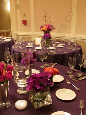 1000 Images About Ideas For A Fall Purple Amp Orange Wedding On Pinterest