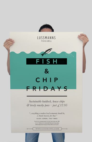 Lussmanns Restaurant Adverts campaign by Spinach Design. Old Street, London. (www.spinachdesign.com)