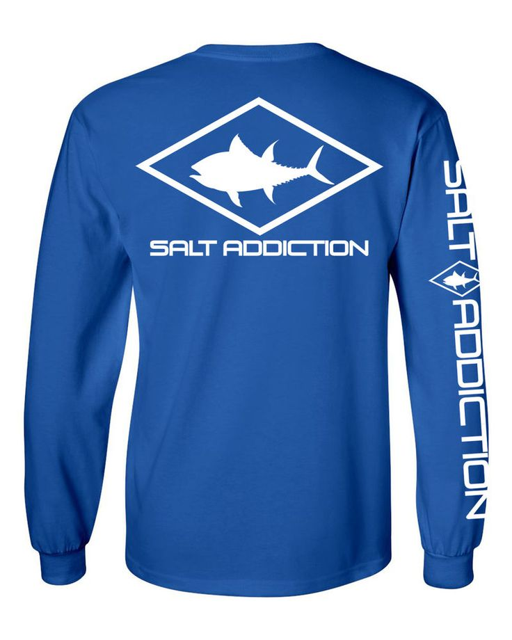 Details about salt addiction long sleeve saltwater fishing for Fly fishing hoodie