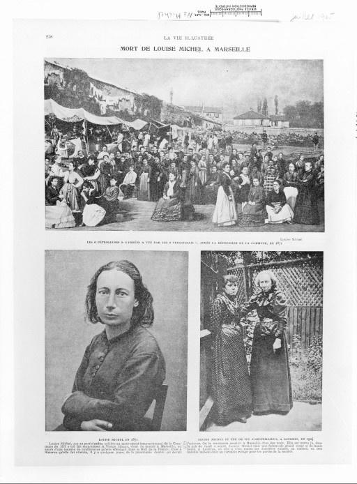 """Les """"pétroleuses"""" gardées à vue par les marseillais // Louise Michel en 1871"""