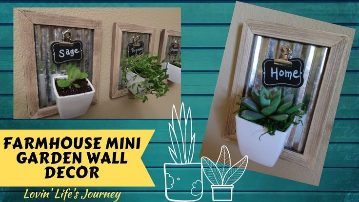 Farmhouse Mini Garden Wall Decor | Dollar Tree DIY – YouTube  – Project Ideas