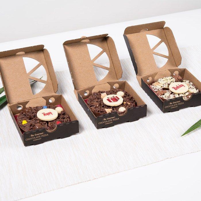 Letterbox 3 Mini Chocolate Pizzas - Happy Birthday | GettingPersonal.co.uk