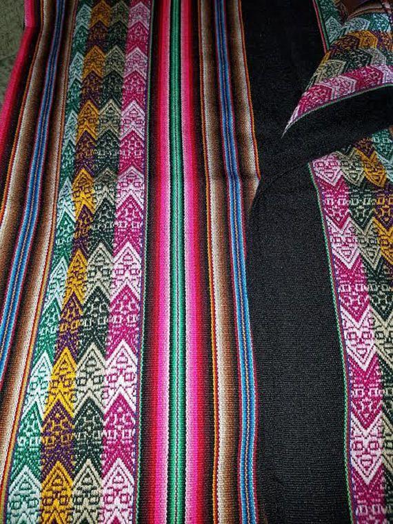 Black andes textile tablecloth for sale $30.00 #aspenandes