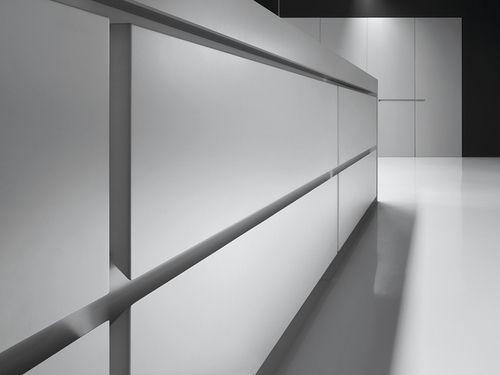 Handle-less shelves