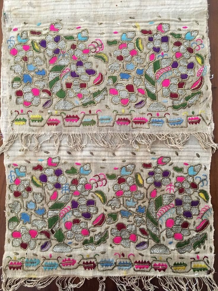 """Antique Ottoman-Turkish Silk & Metallic Hand Embroidery On Linen N3 FOR SALE • $450.00 • See Photos! Money Back Guarantee. You are viewing an attractive example of embroidery. I'm offering a lovely """"yaglık'' Origin: Turkey Example from the: Ottoman periodColourway of the fabric : ecru It is a hand loomed 122431124054"""