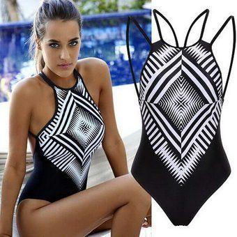 Compra Traje de Baño Estilo Monokini con Diseño Tribal para Mujer-Negro con Blanco online ✓ Encuentra los mejores productos Vestidos de Baño Enterizos Yucheer en Linio Colombia ✓