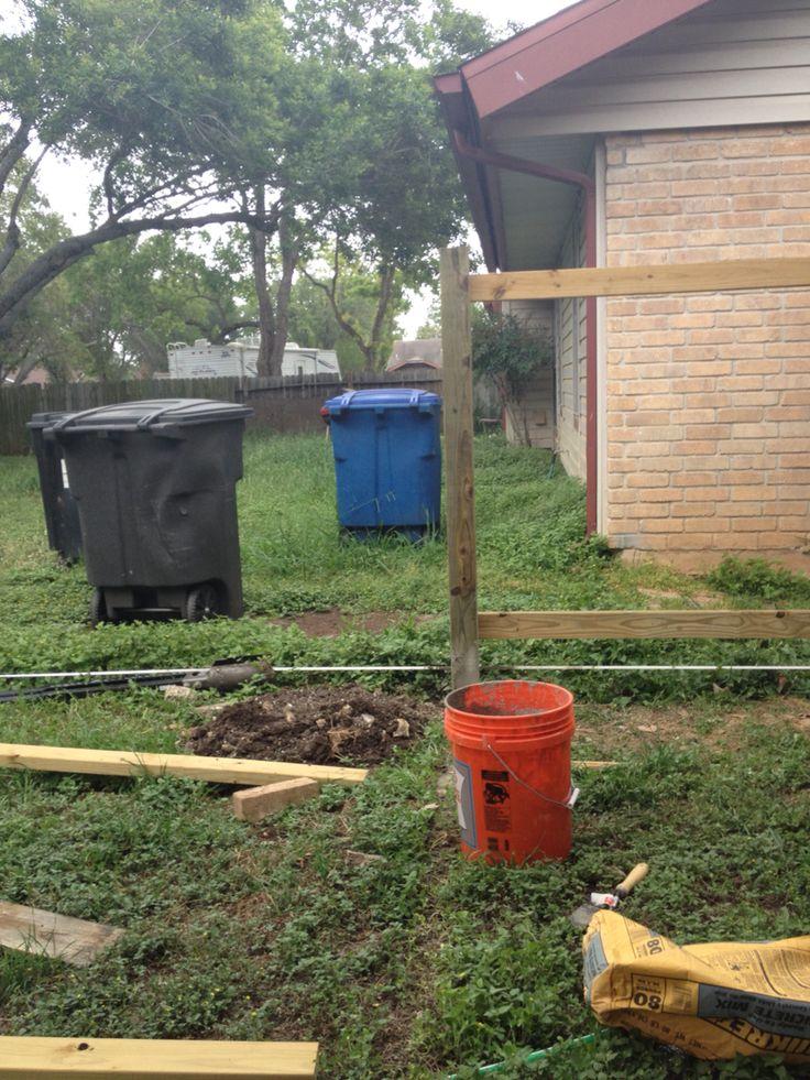 Fence rebuild